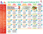 Get Healthy Cenla Challenge Calendar Available