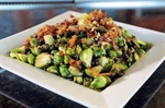 Brussels Sprouts with Crispy Capers & Bacon