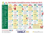 Get Healthy Cenla - December Challenge Calendar Available