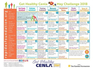 May Calendar Provides Fitness and Nutrition Challenges