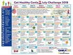 July Challenge Calendar Encourages Tracking Your Steps