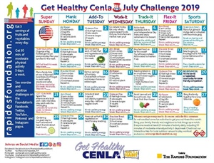 Use the Challenge Calendar to Increase Activity and Healthy Eating