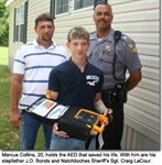 AED saves young man's life