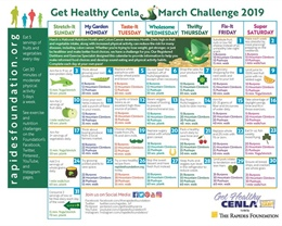 Challenge Calendar Provides Daily Fitness and Nutrition Tips