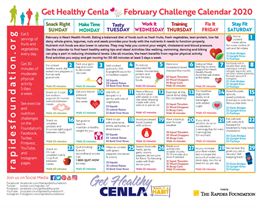 February Calendar Offers Heart Healthy Tips