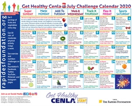July Challenge Calendar Encourages You to Track Your Steps