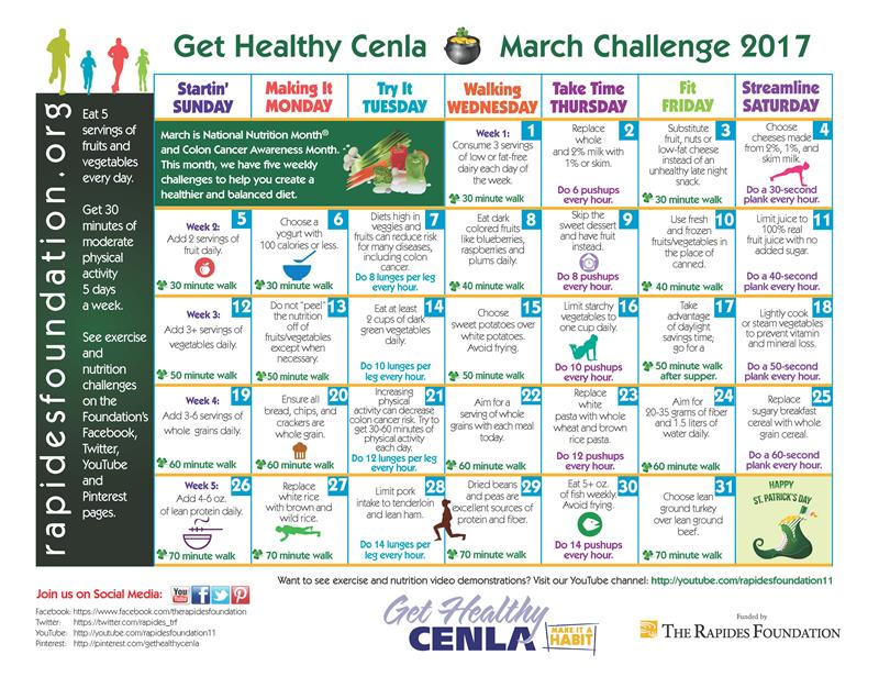 Here's the March Challenge Calendar!